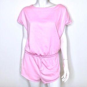 💕 Vintage 80s pink oversize romper 💕